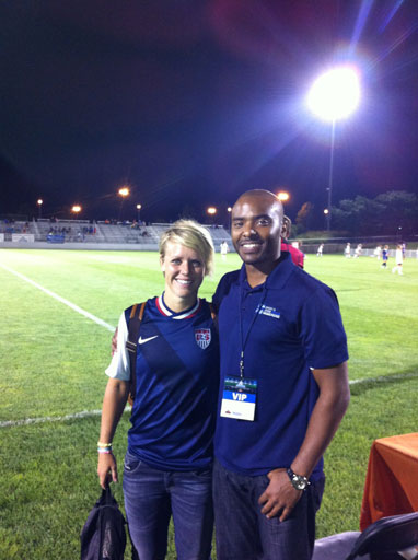 Dr. Scott with Olympian US Soccer Player Lori Lindsey